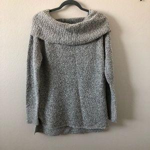 Alya Black & White Knit Turtleneck Size M